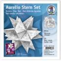 """URSUS Papiers origami étoile Aurelio """"Sirius"""", argent"""