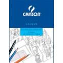 CANSON Bloc calque transparent, 25 feuilles, 90/95 g/m2, A4