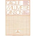 CANSON Bloc calque millimétré, format A4, extra transparent,