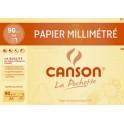 CANSON papier millimétré, format A4, 90 g/m2, couleur: bleu