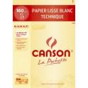 CANSON papier de dessin technique, format A3, 160 g/m2,blanc