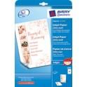 AVERY Zweckform Papier jet d'encre, A4, 200 g/m2, blanc,