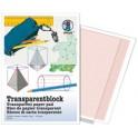 URSUS bloc de papier transparent, format A4, 65g/m2, 25