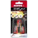 "Kores colle instantanée ""PowerGlue"" en gel, 3 tubes de 1 ml,"