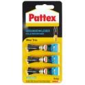 Pattex Colle instantanée MINI TRIO, 3 tubes de 1 g,