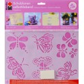 "Marabu Kit de gabarits à motifs ""Papillons"", autocollant"