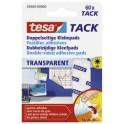 tesa Tack Pastilles adhésives, transparent, adhésive double