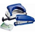 LEITZ Kit agrafeuse et perforateur, bleu
