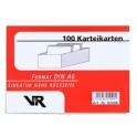 Viktor Richter fiches A6, vert, lignée, contenu: 100 cartes