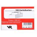 Viktor Richter fiches A7, en blanc, 190 g, rouge