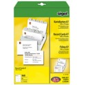 sigel Fiches PC, A7 (A4), blanc, 185 g/m2, microperforation