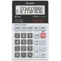 SHARP Calculatrice de poche modèle EL-W211G GY, alimentation