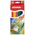"""Kores crayons couleurs """"Akuarelle"""", triangulaires, étui de"""