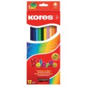 Kores crayons de couleur, étui en carton de 36 +