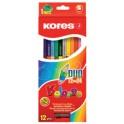 """Kores crayons de couleur """"DUO"""", étui en carton de 12 +"""