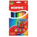 """Kores crayons de couleur """"JUMBO"""", étui de 12, en carton"""