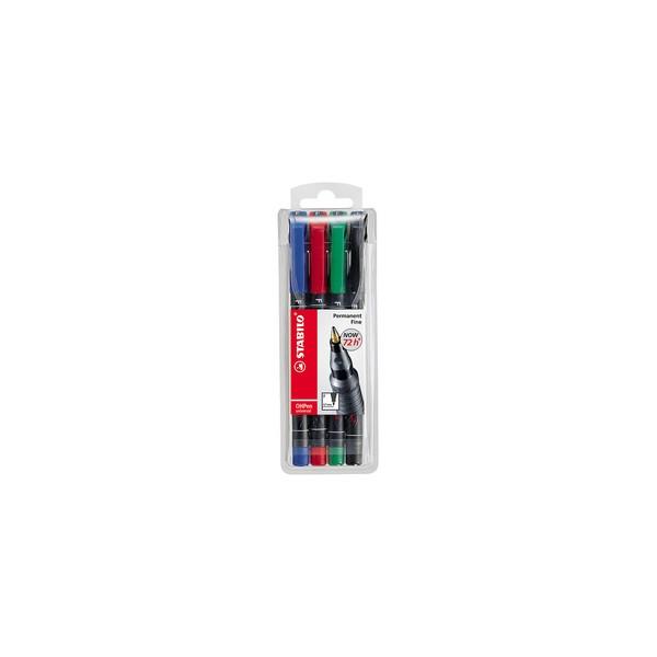 stylo feutre pour transparents OHPen universal,etui de 6
