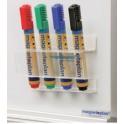 magnetoplan Porte-marqueurs acrylique, pour 4 marqueurs de