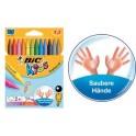 BIC Craie de coloriage Plastidecor, étui de 12 carton