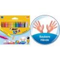 BIC KIDS Craie de coloriage Plastidecor, étui de 18 cartons