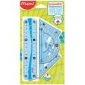 Maped mini kit de géométrie Flex, incassable, 4 pièces