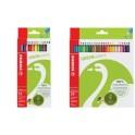 STABILO crayons de couleurs GREENcolors, étui carton de 24