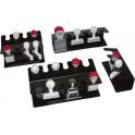 WEDO porte-tampons 6 compartiments, droit, noir