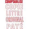 """COLOP Tampon encreur automatique Printer 20 """"PAYÉ"""","""