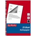 herlitz papier carbone, format A4, contenu: 25 feuilles