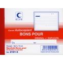 """ELVE Manifold """"Bons pour"""",105 x 140 mm, dupli, autocopiant"""