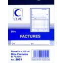 """ELVE Bloc """"factures"""", 140 x 105 mm, 50 feuillets"""