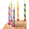 """SUSY CARD bougies d'anniversaire """"canne de bonbons"""",en cire,"""