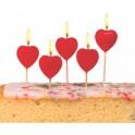 """SUSY CARD bougie pour gâteau """"coeur"""", en cire, sur des"""
