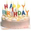 "SUSY CARD Bougie pour gâteau ""HAPPY BIRTHDAY"", lettre en"
