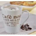"""Esmeyer Tasse à café """"Fakt"""", set de 6, blanc avec impression"""