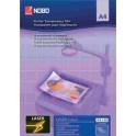 NOBO Transparent A4 pour imprimante laser couleur, PP,