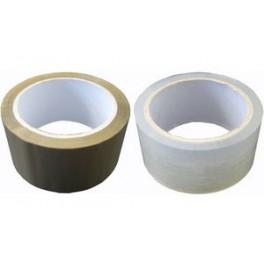 PAPYRUS Ruban adhésif d'emballage 25 mm x 66 m, PP, marron
