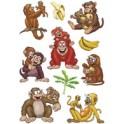 """HERMA Sticker MAGIC """"Familles de pandas et de zèbres"""", Foam"""
