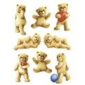"HERMA Stickers DECOR ""ours avec fleurs"""