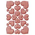 """HERMA Sticker décoratifs DECOR """"Coeurs & lettres"""", gravure"""