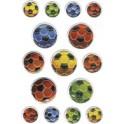 """HERMA Sticker MAGIC """"Football en multicolores"""", gravé"""