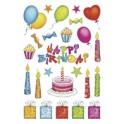 """HERMA Sticker DECOR """"anniversaire"""", pailleté"""