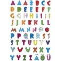 "HERMA autocollant MAGIC ""alphabet"", impression Stone"