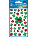 "AVERY Zweckform Z-Design sticker ""Coccinelle et feuilles de"