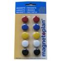 magnetoplan aimants de signalisation 30 mm, contenu:8 pièces