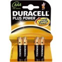 "DURACELL piles alcaline ""PLUS POWER"", Micro AAA, 4 sous"