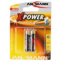 "ANSMANN piles alcalines ""X-Power"", AAA, 4 piles sous blister"