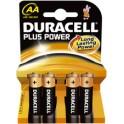"""DURACELL pile alcaline """"PLUS POWER"""", mignon AA, 4 sous"""