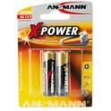 "ANSMANN piles alcalines ""X-Power"", AA, 2 piles sous blister"