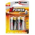 """ANSMANN piles alcalines """"X-Power"""", Baby C, 2 piles sous"""